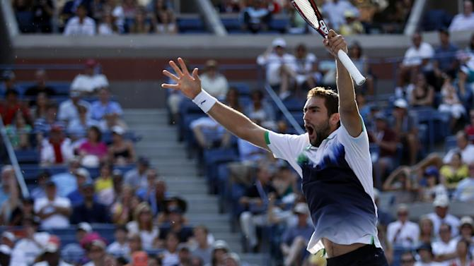 US Open men - Cilic dominates Berdych to reach semis