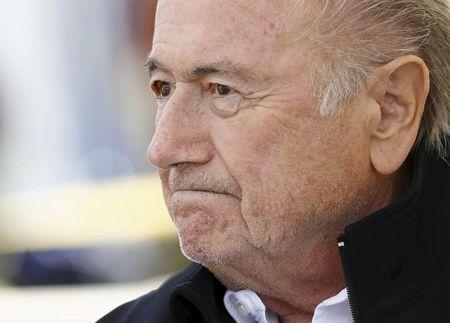 "Blatter reacts before the first game of the so-called ""Sepp Blatter tournament"" in Ulrichen"