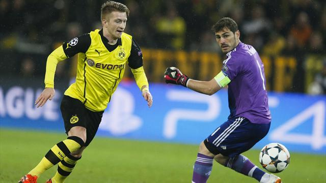 Champions League - Reus rattles Real but Dortmund fall just short of miracle