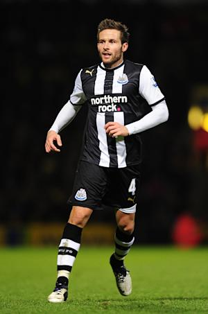 Alan Pardew admits Yohan Cabaye (pictured) is unlikely to leave Newcastle