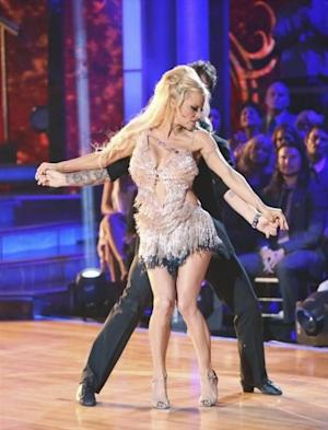 Tristan MacManus and Pamela Anderson perform during the first week of 'Dancing with the Stars: All Stars,' Sept. 24, 2012 -- ABC