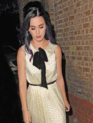 Cute and glam, we're loving Katy's latest London look