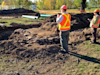 Carleton Park excavation uncovers old stone foundation
