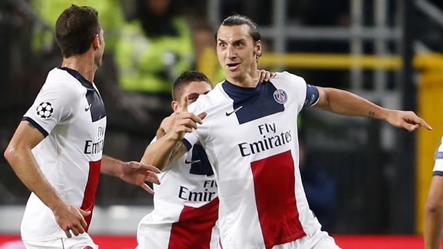 Champions League - Four for Ibrahimovic as five-star PSG humble Anderlecht