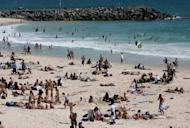 This file photo shows people at Perth's popular Cottesloe beach, in 2006. Beaches remained closed on Sunday along Australia's west coast after a fatal shark attack that has reignited debate over whether great whites should remain a protected species