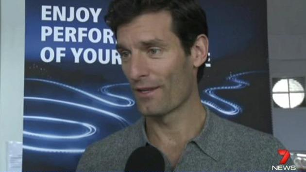 Mark Webber returns to the track
