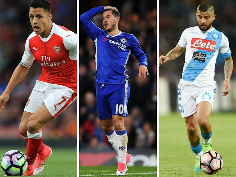 Sanchez 'won't be allowed to join Bayern Munich', while Insigne 'will replace Hazard'
