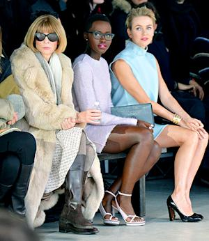Lupita Nyong'o, Anna Wintour, Naomi Watts Wear Wintery Pastels in Front Row at Calvin Klein Fashion Show