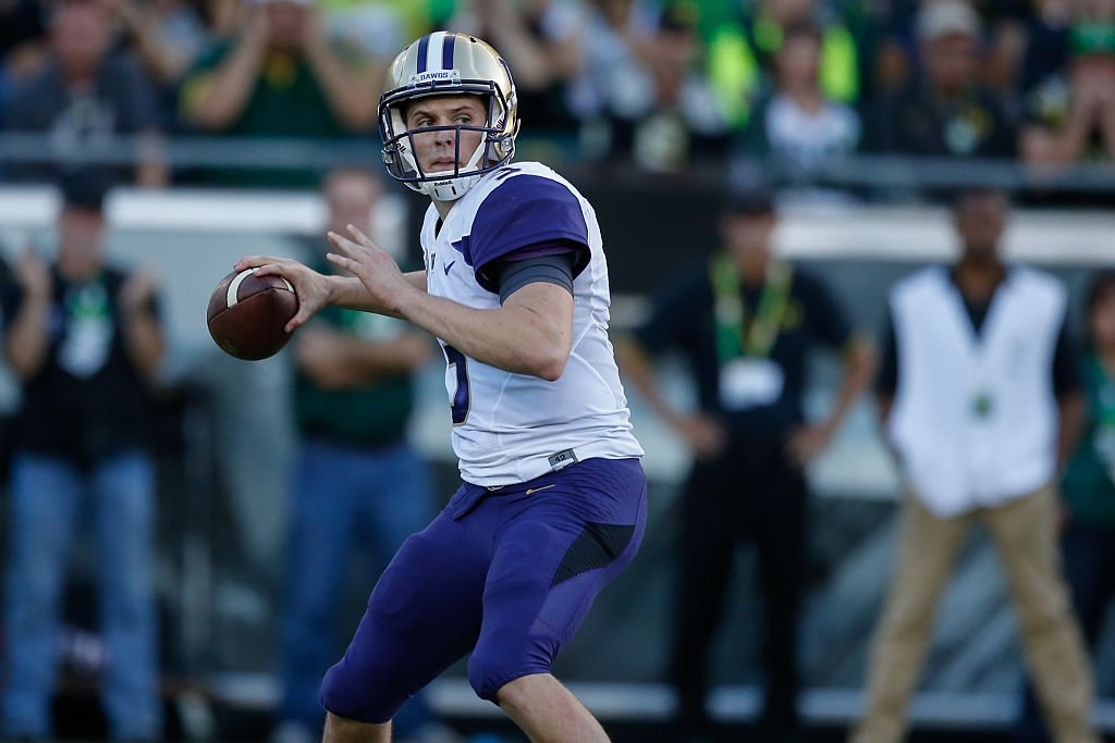 Jake Browning and Washington face a home test against USC on Saturday. (Getty)