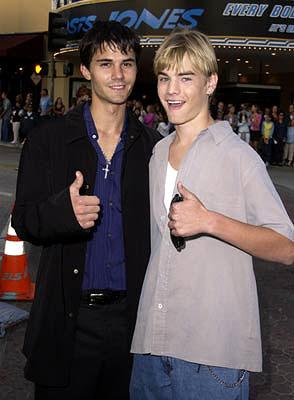 Adam LaVorgna and David Gallagher at the Westwood premiere of Warner Brothers' Summer Catch