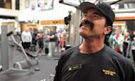 Schwarzenegger's Gym Trainer Disguise