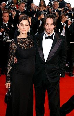 Carrie Anne Moss and Keanu Reeves The Matrix: Reloaded Premiere Cannes Film Festival 5/15/2003
