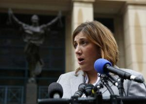 Attorney Diaz for Baltimore Museum of Art speaks to media outside of the US District Court in Alexandria Virginia