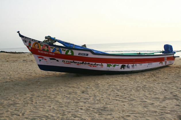 Tranquebar: Fishing boat