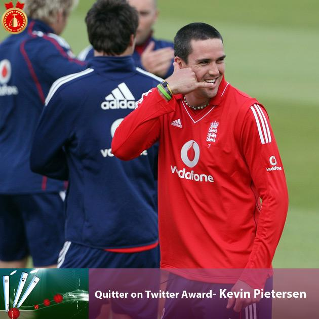 Quitter on Twitter Award- Kevin Pietersen