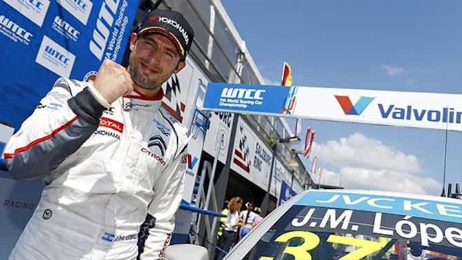 WTCC - López wins race two as Citroën rule again