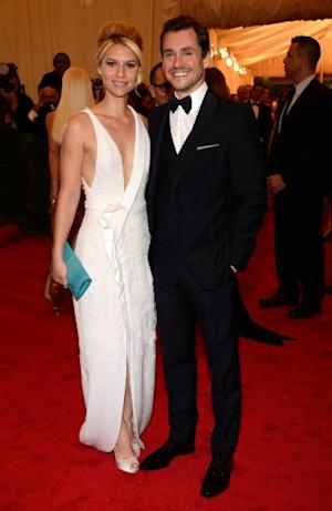 Claire Danes and Hugh Dancy step out at the 'Schiaparelli And Prada: Impossible Conversations' Costume Institute Gala at the Metropolitan Museum of Art in New York City on May 7, 2012  -- Getty Premium