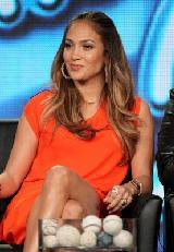 Judge Jennifer Lopez speaks onstage during the 'American Idol' panel during the FOX Broadcasting Company portion of the 2012 Winter TCA Tour at The Langham Huntington Hotel and Spa, Pasadena, on January 8, 2012 -- Getty Images