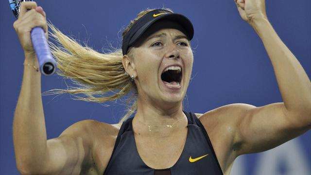 US Open - Sharapova survives US Open scare