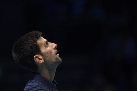 Serbia's Novak Djokovic looks dejected during the final against Great Britain's Andy Murray