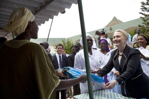 During her three-hour visit the top US diplomat will meet with President Salva Kiir
