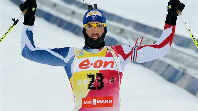 Biathlon - Fourcade wins final sprint of year in Khanty-Mansiysk