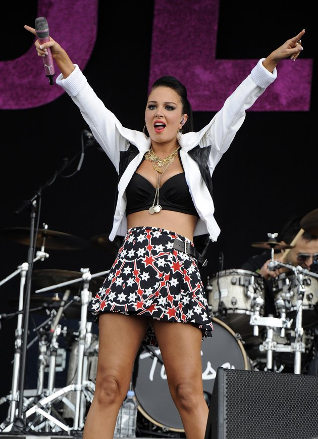 Tulisa at Wireless Festival