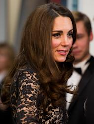 The Duchess of Cambridge arrives for the UK Premiere of 'War Horse' in aid of The Foundation of Prince William and Prince Harry, at a central London cinema, London, Sunday, Jan. 8, 2012. (AP Photo/Ian Gavan, Pool)