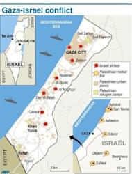 Israeli strikes killed 32 Palestinians on Monday, taking the Gaza death toll to 109 as UN chief Ban Ki-moon joined efforts to end the worst violence in four years and Israel's inner circle of ministers mulled their next move