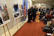 Los Angeles police Chief Charlie Beck speaks at a press conference on the manhunt for Christopher Dorner, the fired LAPD officer accused of killing three people, including another officer, at a briefing at police headquarters February 7, 2012 in Los Angeles