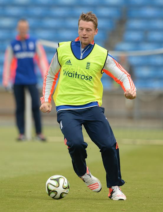 Cricket: England's Jos Buttler during nets