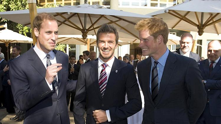 Prince Williams Beckham Prince Harry Africa