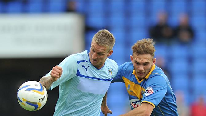 Soccer - Sky Bet Football League One - Shrewsbury Town v Coventry - Greenhous Meadow