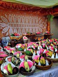 Tasty offering: bananas are used as part of the offering in the form of banten (fruit offerings). (