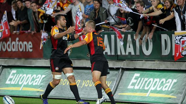 Super Rugby - Anscombe leads Chiefs win over Rebels