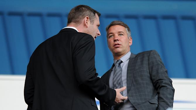 Darragh MacAnthony, left, has quashed speculation linking Darren Ferguson with the Blackpool job