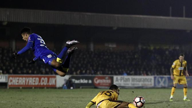 AFC Wimbledon forward Lyle Taylor could feature against Chesterfield with foot injury 'not as bad as first feared'
