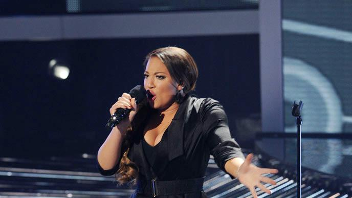 "Melanie Amaro performs ""Feeling Good"" by Anthony Newley and Leslie Bricusse on ""The X Factor."""