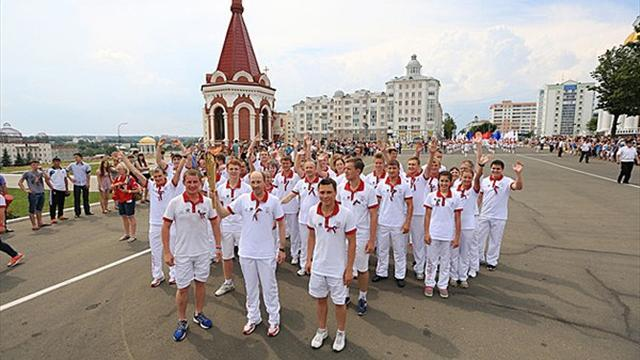 Summer Universiade  - Flame reaches Saransk on Russia Day