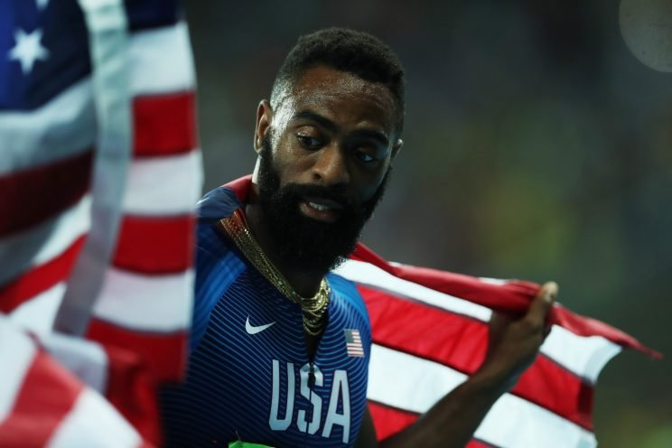 Tyson Gay's daughter Trinity died early Sunday morning. (Getty)