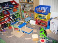 Why hasn't anybody yet invented a self-cleaning playroom?
