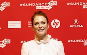 "Cast member Moore poses at the premiere of ""Don Jon's Addiction"" during the Sundance Film Festival in Park City"