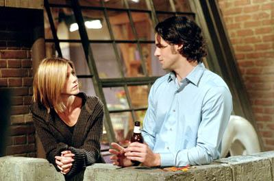 """Jennifer Aniston and Eddie Cahill in """"The One Where Chandler Doesn't Like Dogs"""" in NBC's Friends"""