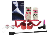 "This product image photo released by Babeland shows various sex toy products. Sales are roof-raising for Babeland since the surge in popularity from E L James' ""Fifty Shades of Grey"" book series. With three adult toy stores in New York, one in Seattle and a website, co-founder Claire Cavanah reports a 40 percent uptick in business overall, with eye-popping increases for bondage toys. (AP Photo/Babeland)"