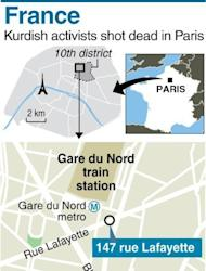 Map locating the 10th district in Paris, where three Kurdish activists were shot dead. A co-founder of the Kurdistan Workers' Party (PKK) and two other activists were found shot dead in Paris, a day after it emerged that Turkey and the jailed leader of the banned group were holding peace talks