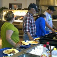 Fire evacuees received a breakfast at 5 Wing Goose Bay on Sunday.