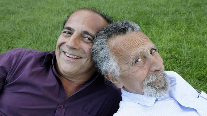 "FILE - This June 19, 2008 file photo shows brothers Tom, left, and Ray Magliozzi, hosts of National Public Radio's ""Car Talk"" show, in Cambridge, Mass. The Magliozzi  brothers said Friday, June 8, 2012, they will stop making new episodes of their comic auto advice show at the end of September, 25 years after ""Car Talk"" began in Boston. The show airs every Saturday morning and is National Public Radio's most popular program. Older brother Tom is 74 years old and the brothers say it's time to stop and smell the cappuccino. ""Car Talk"" isn't disappearing, however. NPR says repurposed episodes will continue to air every week with material culled from the show's archives. (AP Photo/Charles Krupa, file)"