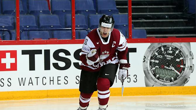 Slovakia v Latvia - 2013 IIHF Ice Hockey World Championship
