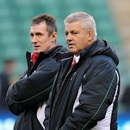 Rob Howley (left) thoroughly enjoyed his spell as the interim head coach of Wales