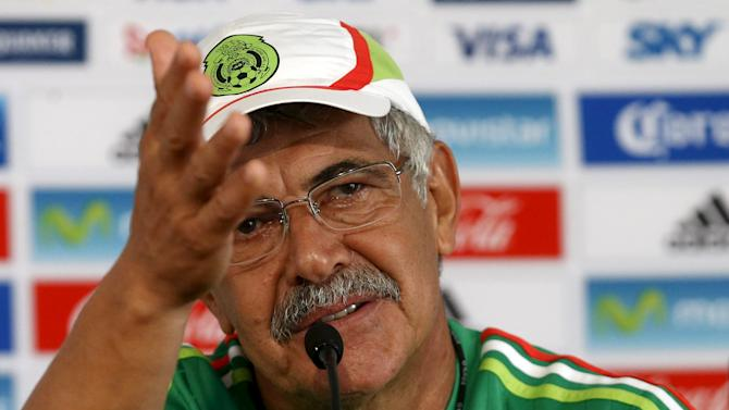 Mexico's national soccer team coach Ricardo Ferreti gestures during a news conference in Mexico City